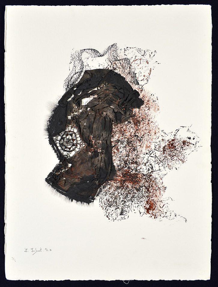 Sans titre, 1991, technique mixte, 77 x 57 cm