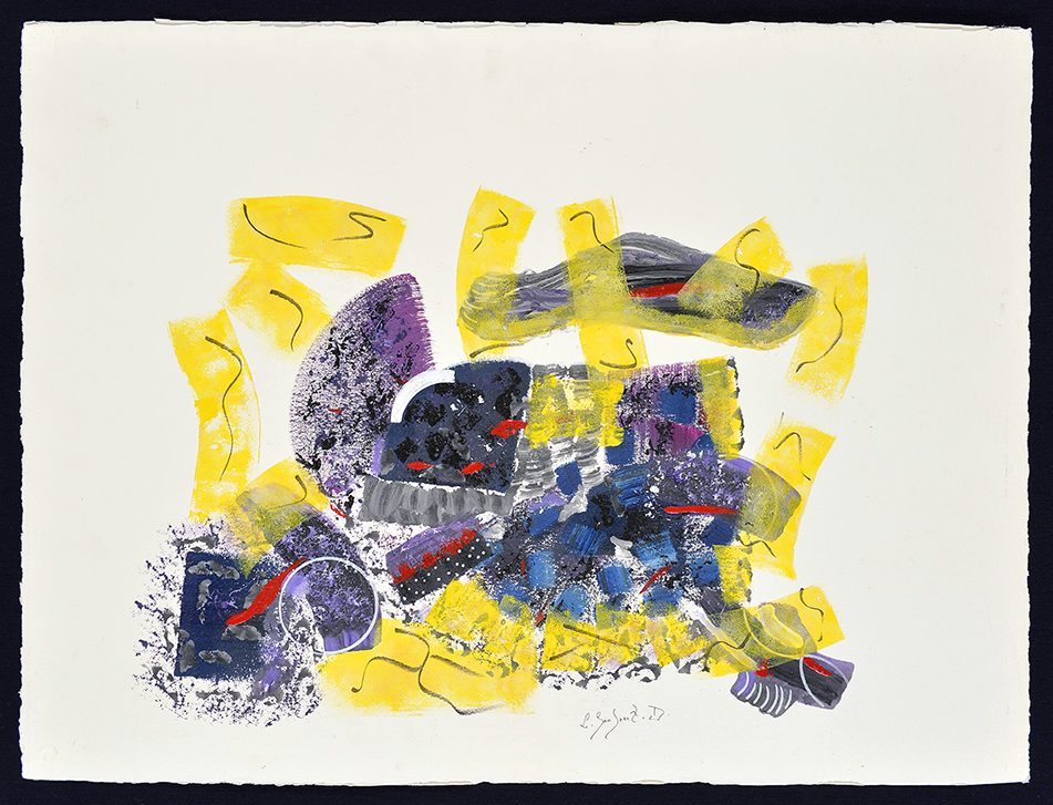 Sans titre, 1991, technique mixte, 77 x 57 cm