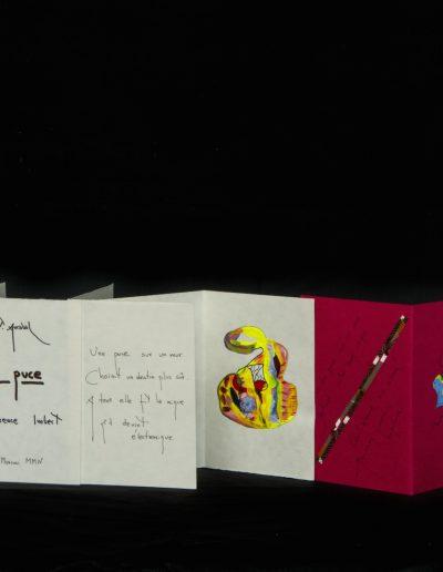 La Puce, 2005, 9 ex sur un poème de Fernando Arrabal