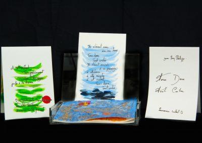 Tous deux Tout contre, 2013, 10 ex, sur un poème de Jean-Loup Philippe