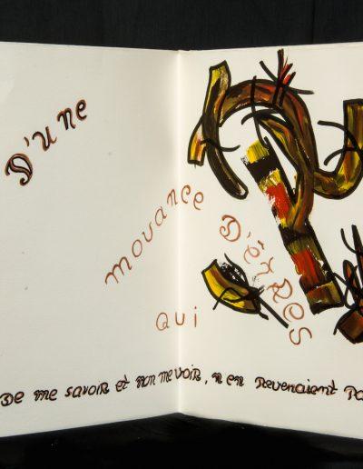 Le Presque pas d'un petit rien, 2005, 9 ex sur un poème de Jean-Loup Philippe