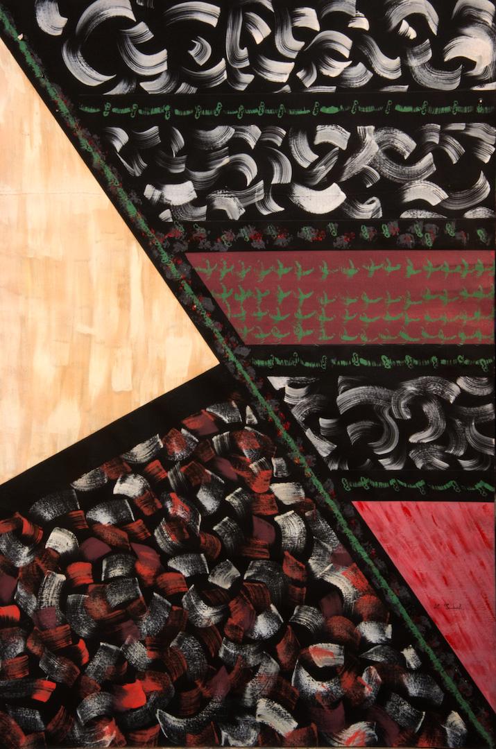 Effrangement de formes II, 1986, aquarelle et fusain sur papier, 115 x 80 cm