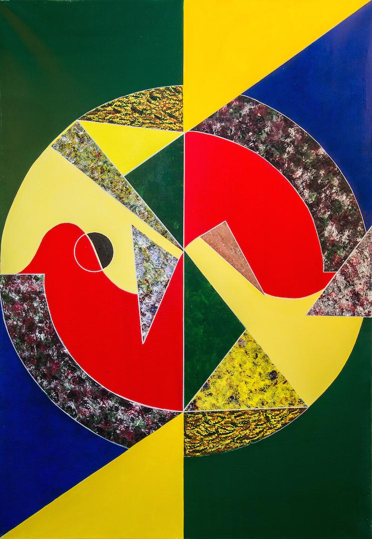 L'oiseau à la clé des champs, 1988, 116 x 81 cm