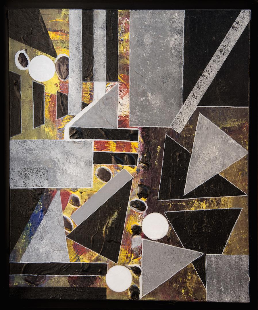Géométrie enchantée, 1990, acrylique, 46 x 38 cm