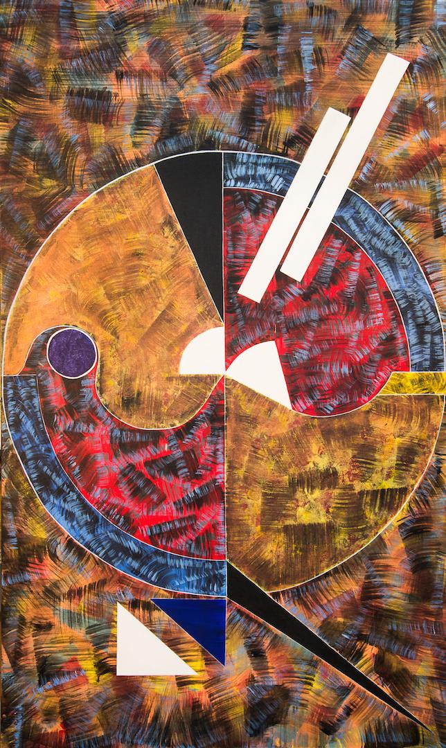 Poussière de cendre, 1993, acrylique, 162 x 97 cm