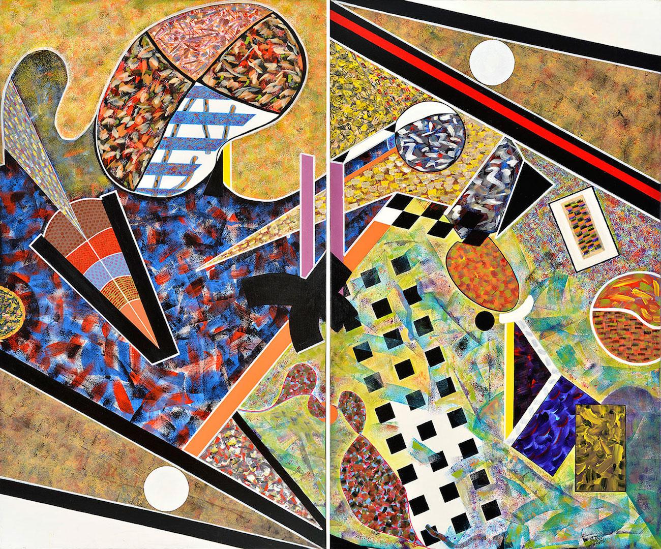 Grand Imaginaire, 2010, diptyque, acrylique, 162 x 194 cm