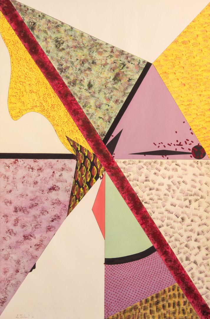 Impulsion en mouvement, 1986, aquarelle et fusain sur papier, 115 x 80 cm