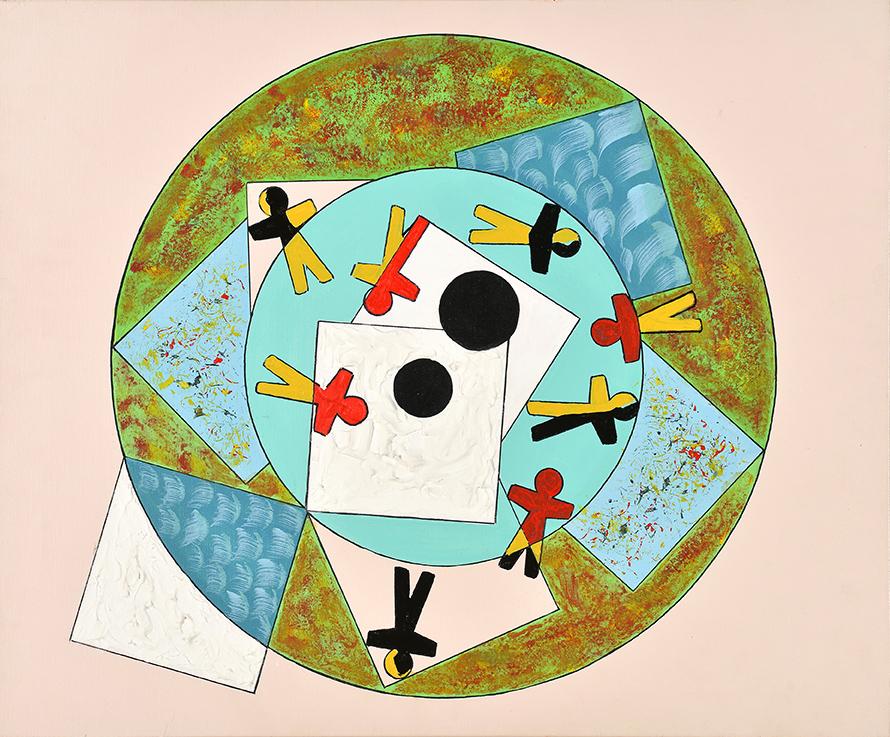 Manège des pantins, 2012, acrylique, 54 x 65 cm