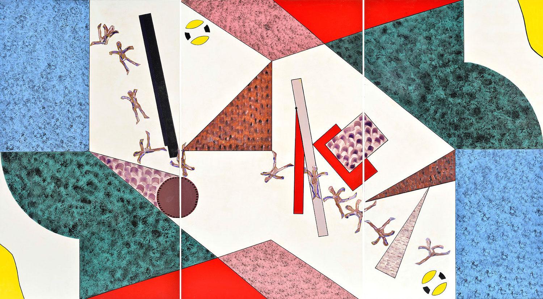 Panoplie de l'instant qui fuit, triptyque, 91 x 162 cm