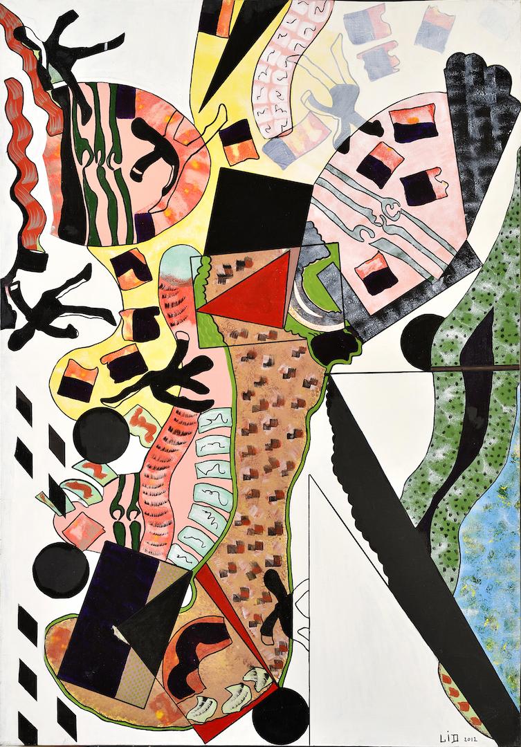 Sonate du diable, 2012, acrylique, 116 x 81 cm