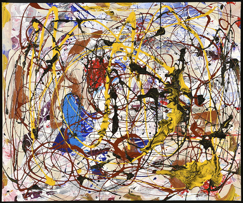 Tourbillon céleste III, 2014, acrylique, 54 x 65