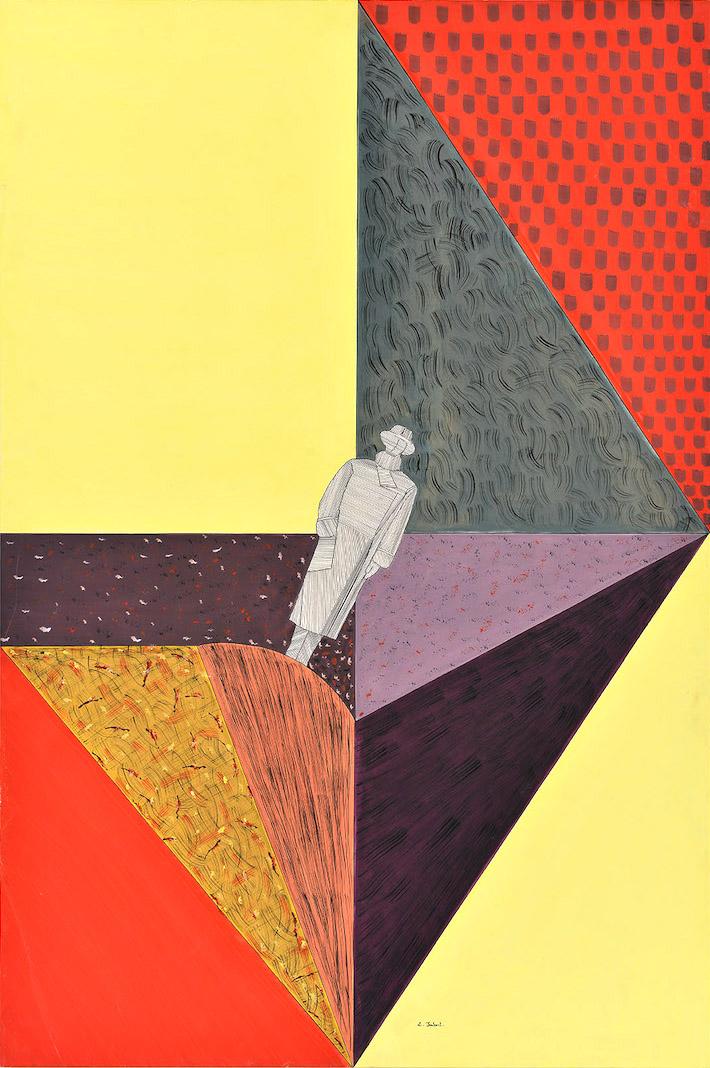 Solitude, 1987, aquarelle et fusain sur papier, 115 x 80