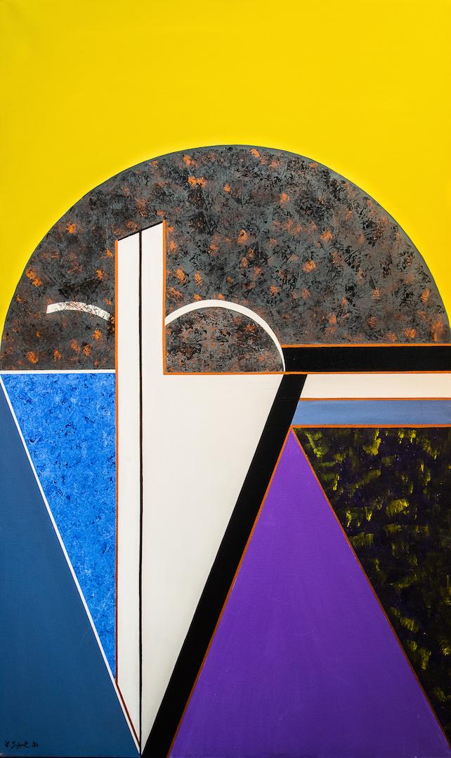 Regard mauve, 1987, acrylique, 162 x 97 cm