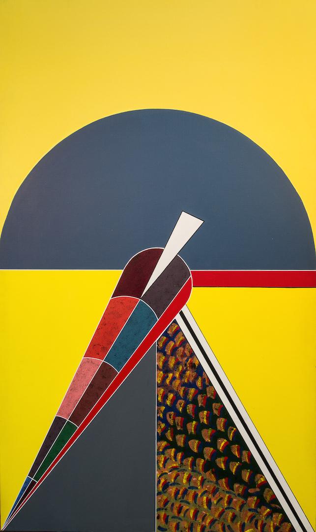 Inattention emportée, 1988, acrylique, 162 x 97 cm