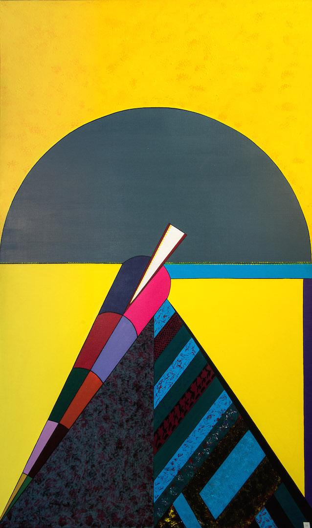 Miroir de l'inoublié, 1988, acrylique, 162 x 97 cm