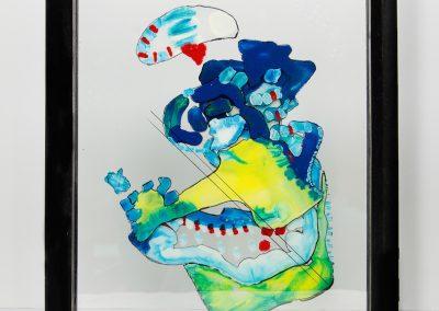 Danseuse à cordes, 2013, peinture sur verre