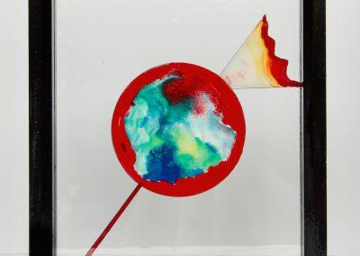 Rêve rouge, 2013, peinture sur verre
