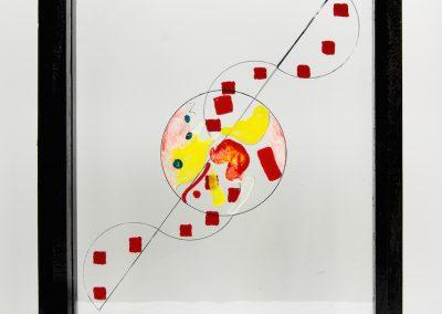 Cerf-volant, 2012, peinture sur verre